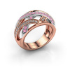 Image of Ring Yinthe 585 rose gold pink sapphire 1.5 mm
