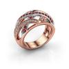 Image of Ring Yinthe 585 rose gold ruby 1.5 mm