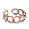 Afbeelding van Platte schakel armband Rose 25mm 375 rosé goud