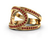 Image of Ring Louise 585 gold ruby 1.2 mm