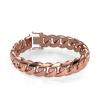Afbeelding van Cuban link armband ±15 mm 375 rosé goud