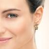 Afbeelding van Oorbellen Emeline 585 rosé goud bruine diamant 0.20 crt