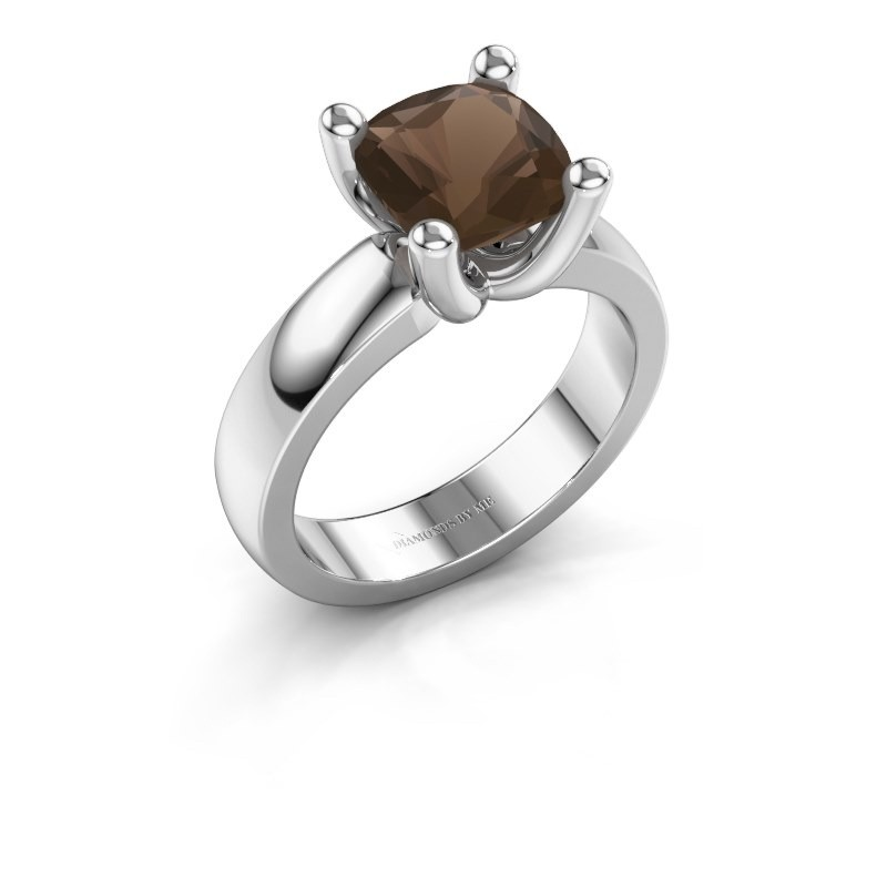 Ring Clelia CUS 925 zilver rookkwarts 8 mm