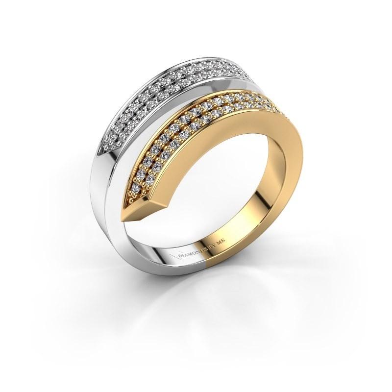 Ring Pien 585 goud zirkonia 1.2 mm