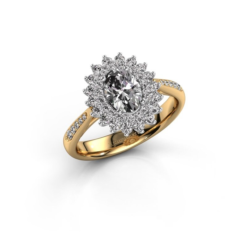 Aanzoeksring Alina 2 585 goud lab-grown diamant 0.80 crt