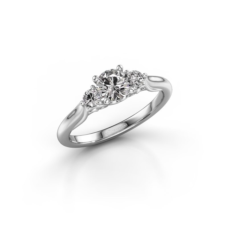 Verlovingsring Laurian RND 585 witgoud diamant 0.70 crt