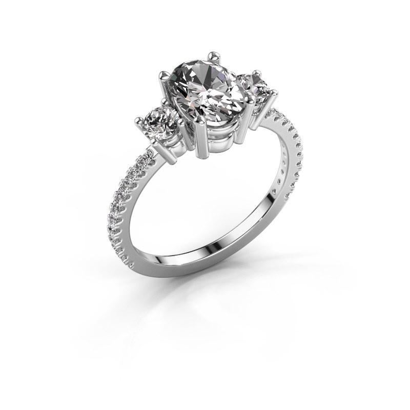 Verlobungsring Emelda 585 Weißgold Lab-grown Diamant 1.615 crt