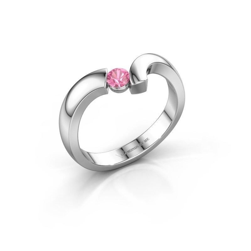 Ring Arda 925 zilver roze saffier 3.4 mm