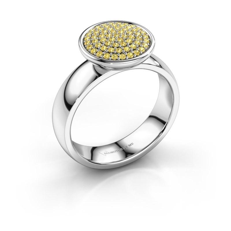 Ring Tilda 925 zilver gele saffier 1 mm