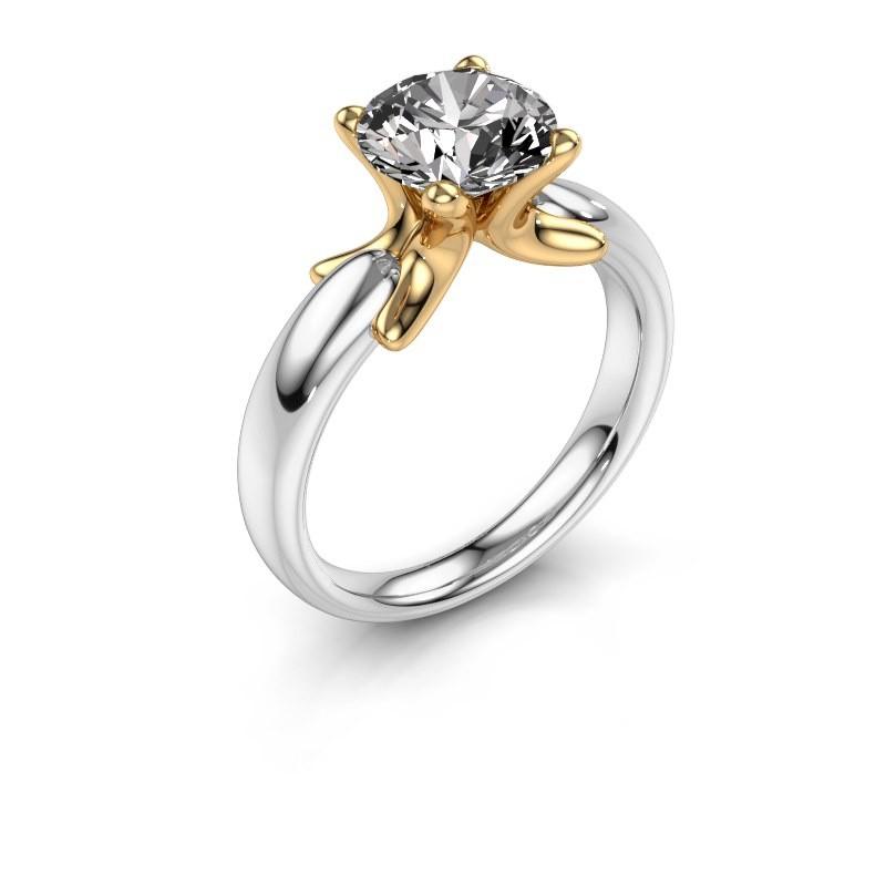 Ring Jodie 585 witgoud diamant 2.00 crt
