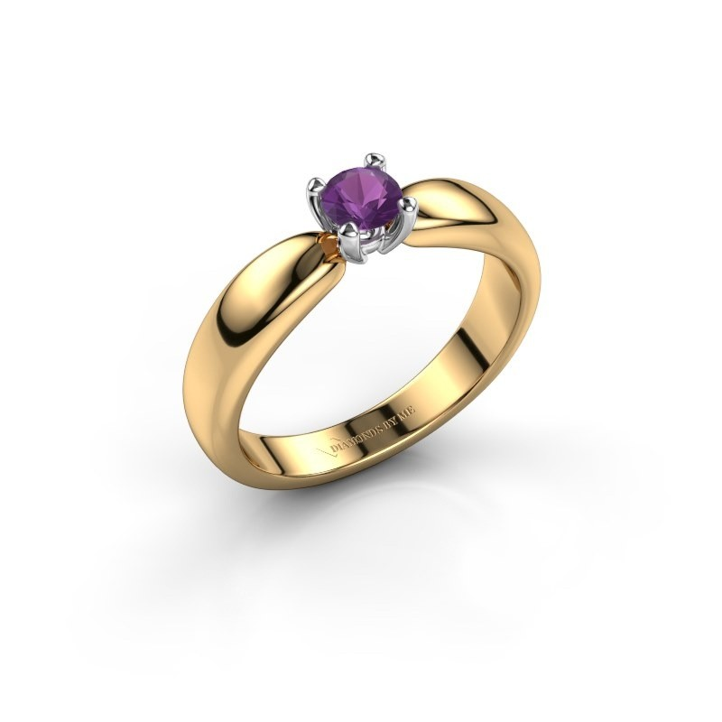 Promise ring Katrijn 585 gold amethyst 4.2 mm