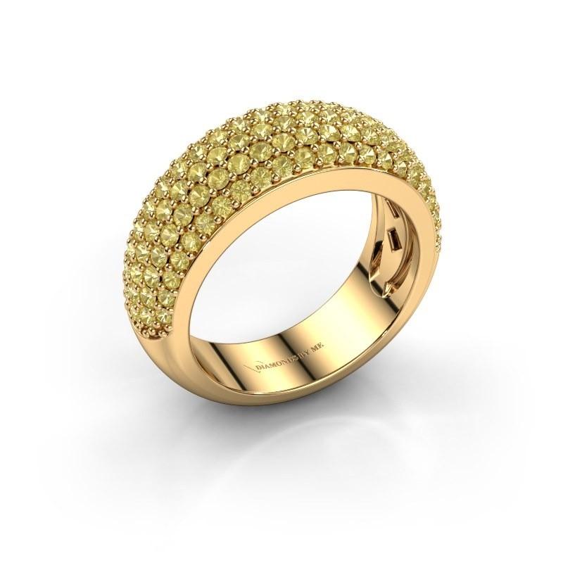 Ring Cristy 375 goud gele saffier 1.2 mm
