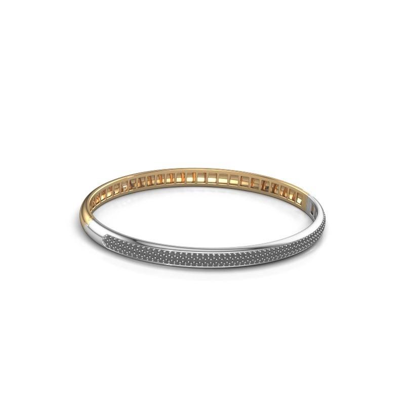 Armband Emely 5mm 585 goud zwarte diamant 1.409 crt