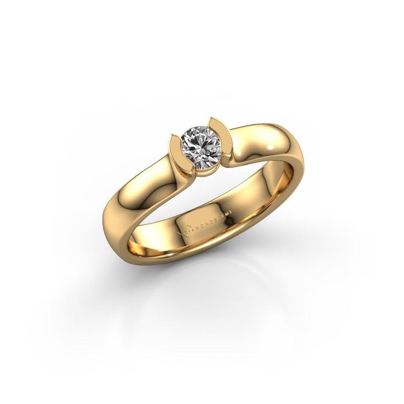 Verlovingsring Ophelia 375 goud diamant 0.25 crt