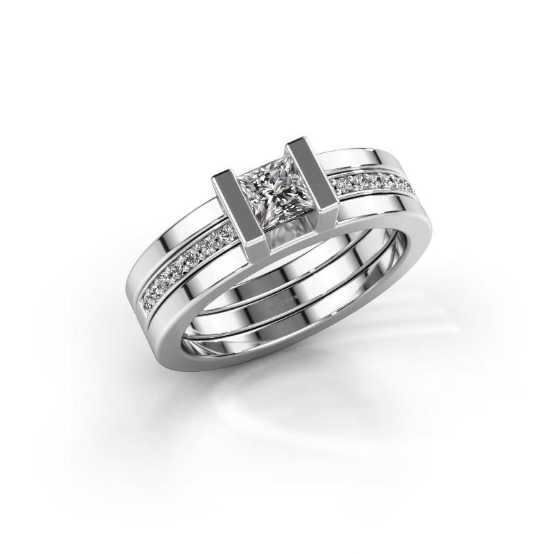 Ring Desire 585 witgoud lab-grown diamant 0.535 crt