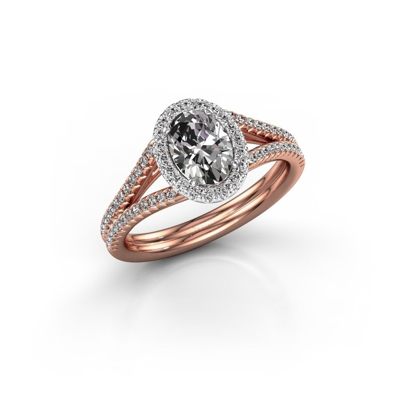 Engagement ring Rachele 2 585 rose gold lab created 1.174 crt