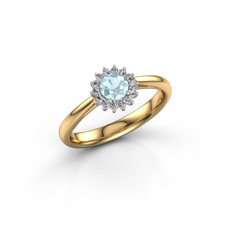 Engagement ring Tilly RND 1 585 gold aquamarine 4.2 mm