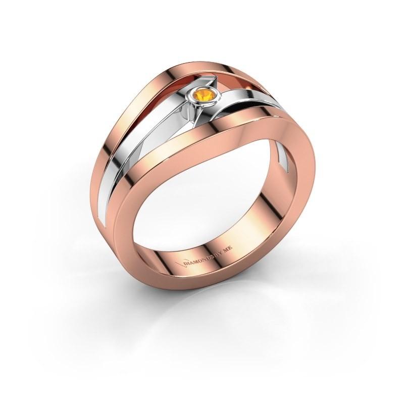 Ring Carlijn 585 Roségold Citrin 2 mm