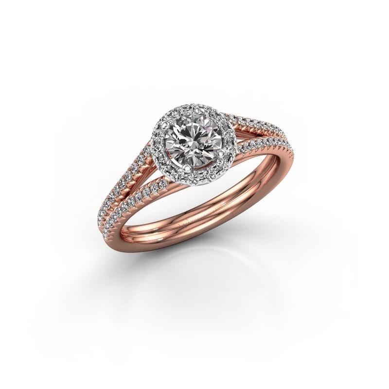 Verlobungsring Verla 2 585 Roségold Diamant 0.845 crt