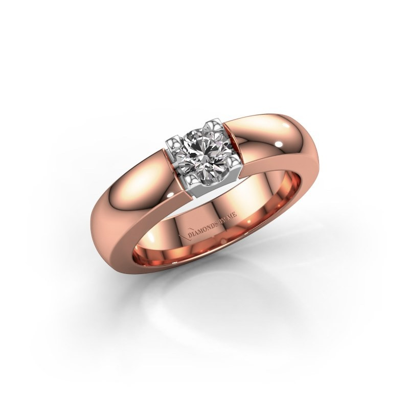 Engagement ring Rianne 1 585 rose gold diamond 0.40 crt