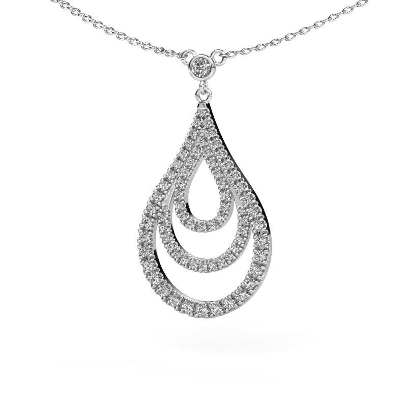 Hanger Delpha 585 witgoud diamant 0.487 crt