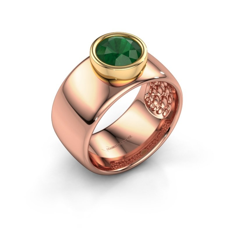 Ring Klarinda 585 rose gold emerald 7 mm