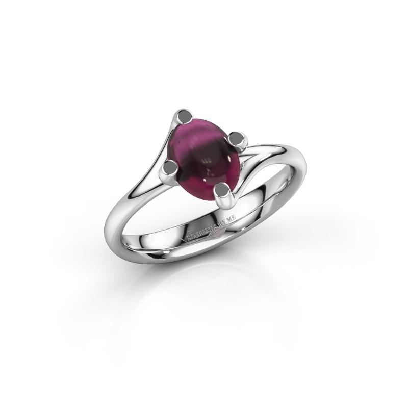 Ring Nora 950 platina rhodoliet 8x6 mm
