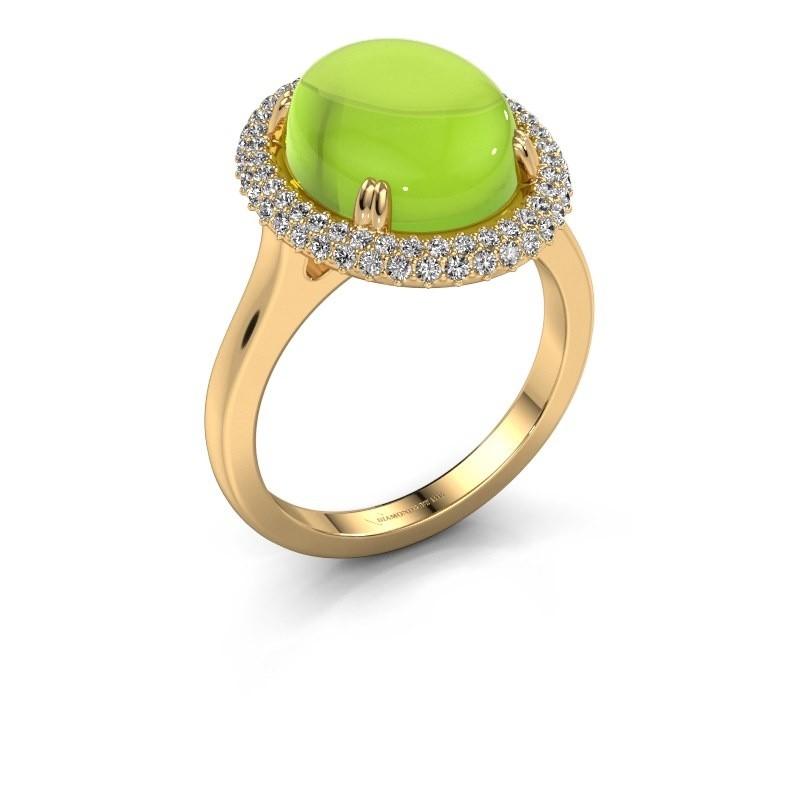 Ring Jayna 585 goud peridoot 12x10 mm