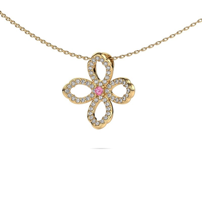 Kette Chelsea 375 Gold Pink Saphir 2 mm