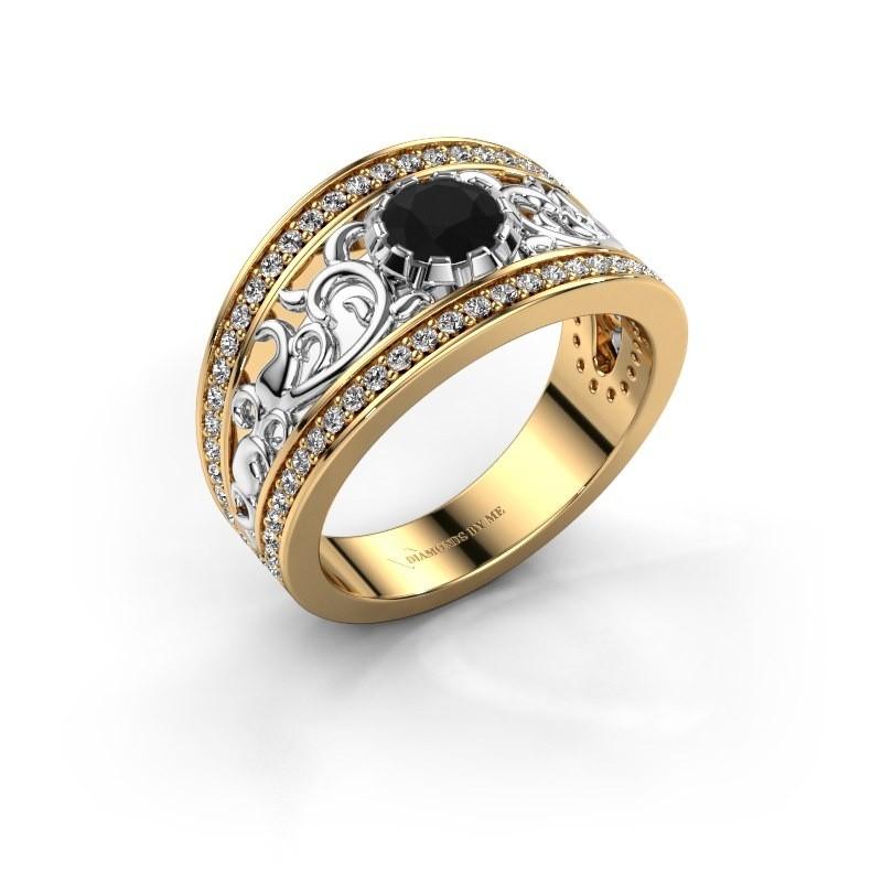 Ring Marilee 585 goud zwarte diamant 1.056 crt