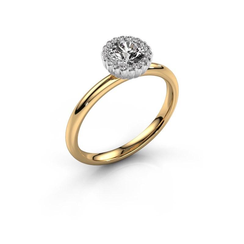Verlovingsring Queen 585 goud diamant 0.59 crt