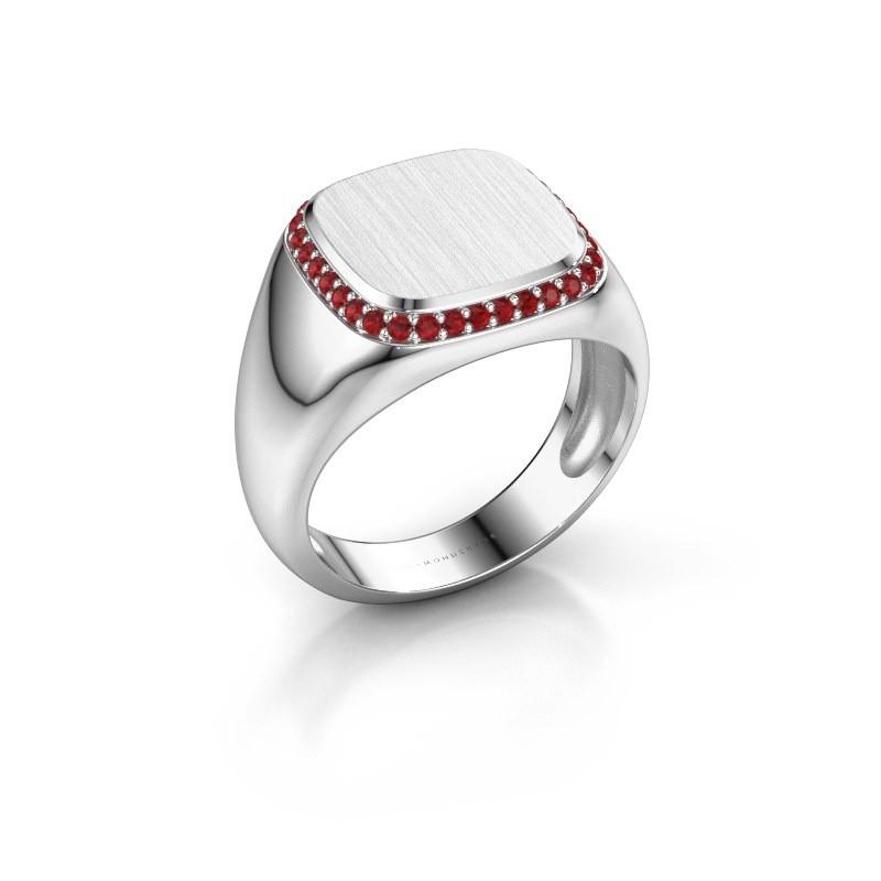 Heren ring Jesse 1 375 witgoud robijn 1.2 mm