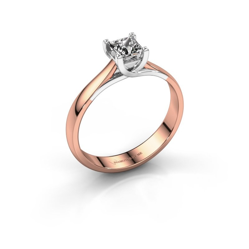 Engagement ring Mia Square 585 rose gold diamond 0.40 crt