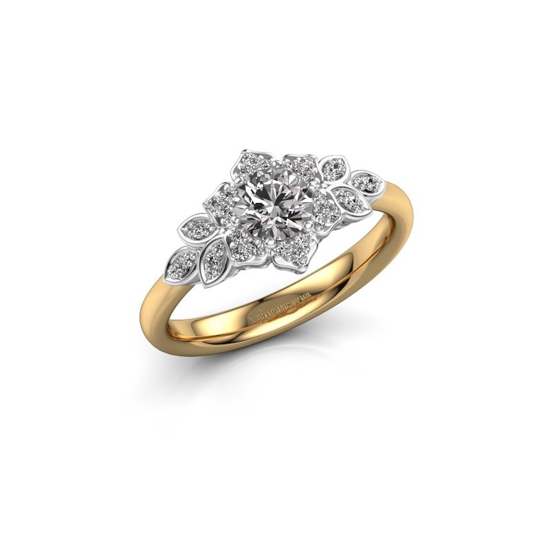 Engagement ring Tatjana 585 gold diamond 0.635 crt