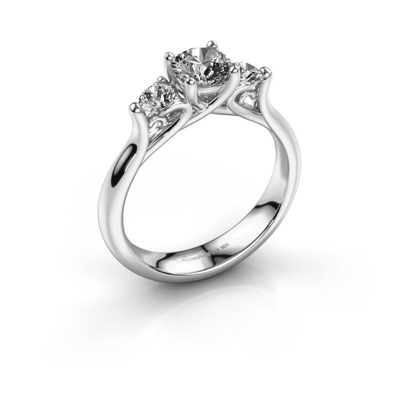 Bague de fiançailles Jente 585 or blanc diamant 0.900 crt