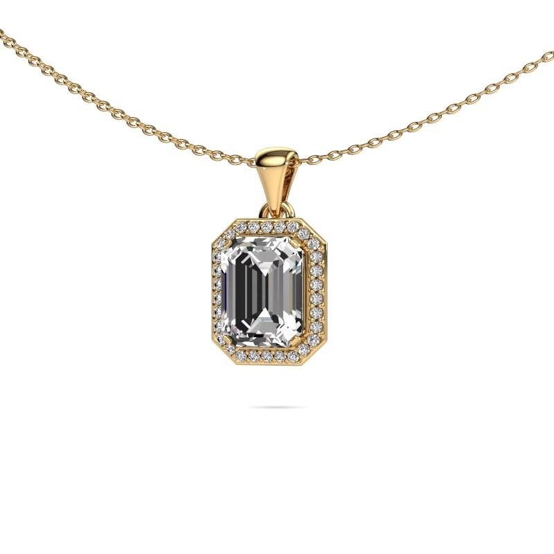 Ketting Dodie 375 goud lab-grown diamant 2.65 crt