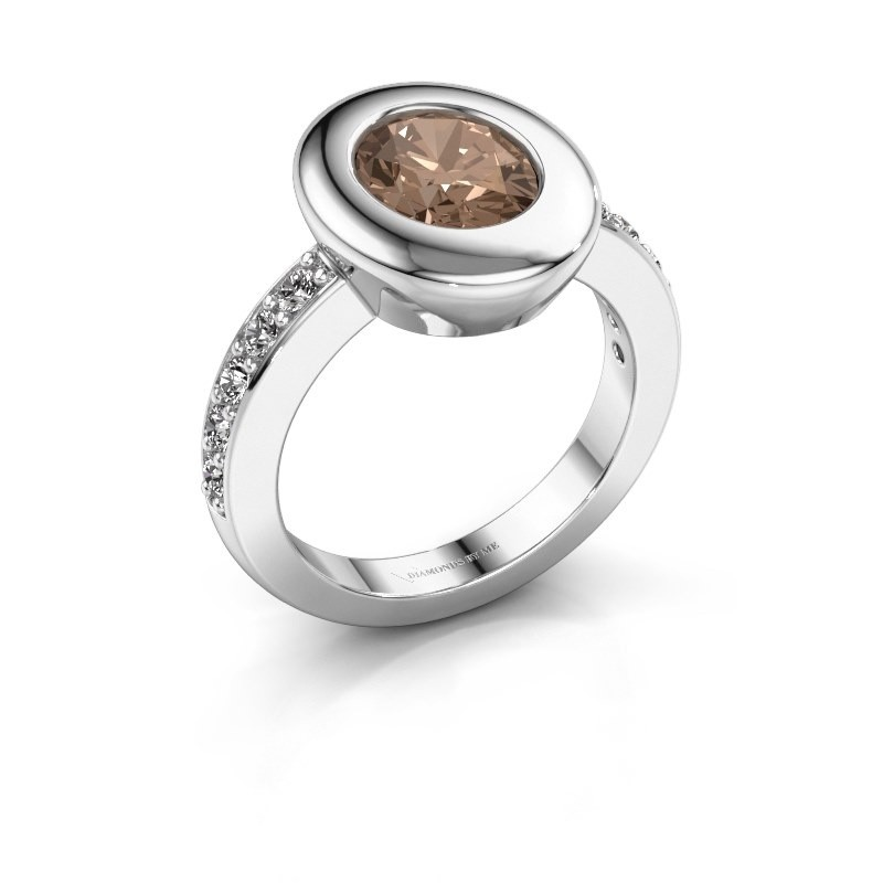 Ring Selene 2 585 white gold brown diamond 1.80 crt