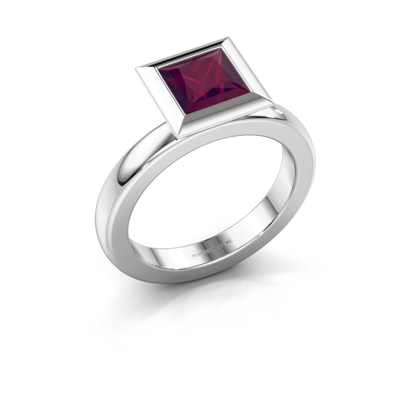 Stapelring Trudy Square 925 zilver rhodoliet 6 mm