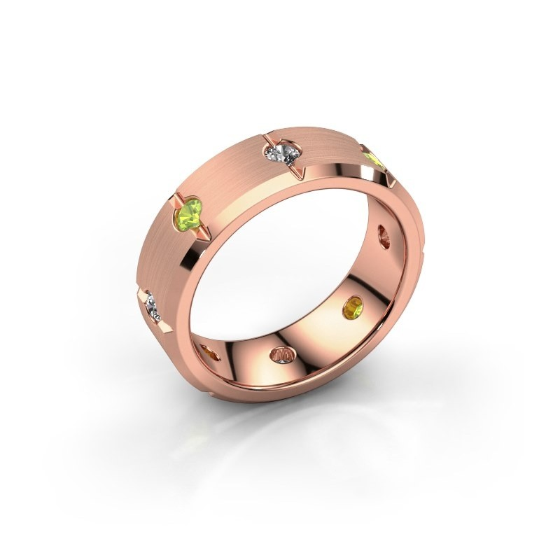 Men's ring Irwin 375 rose gold peridot 2.7 mm