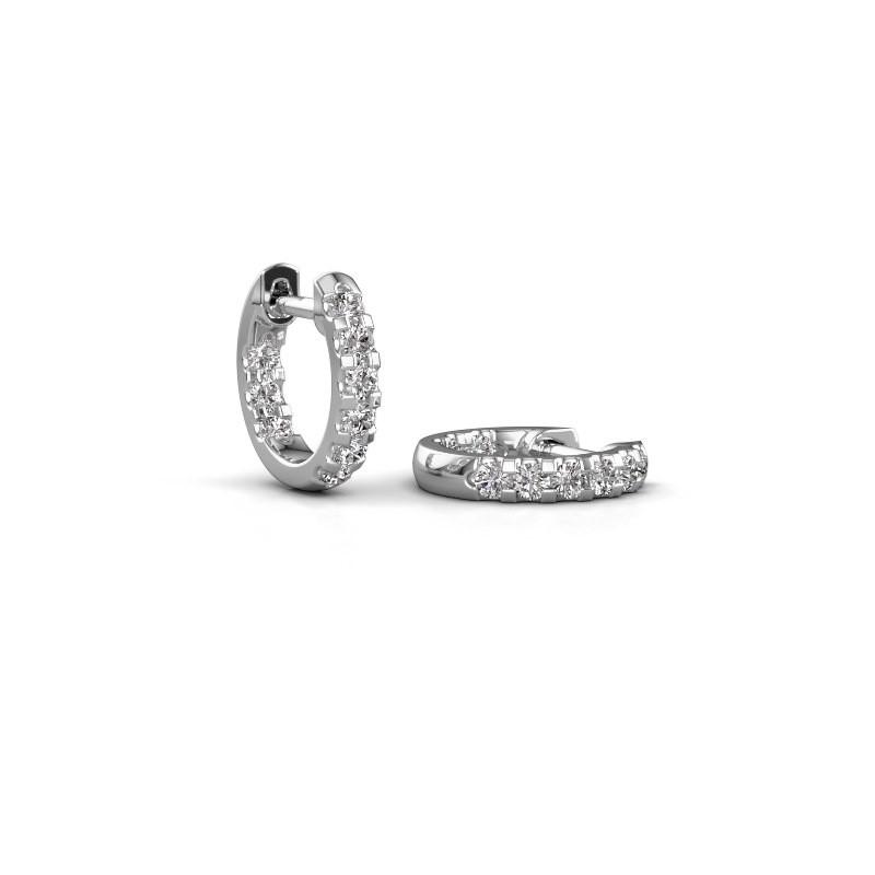 Creolen Jackie 10 mm B 585 witgoud diamant 0.54 crt