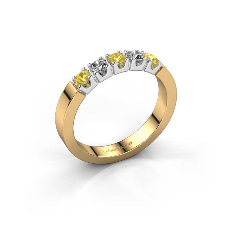 Engagement ring Dana 5 585 gold yellow sapphire 3 mm