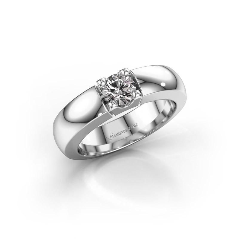 Verlovingsring Rianne 1 925 zilver diamant 0.50 crt