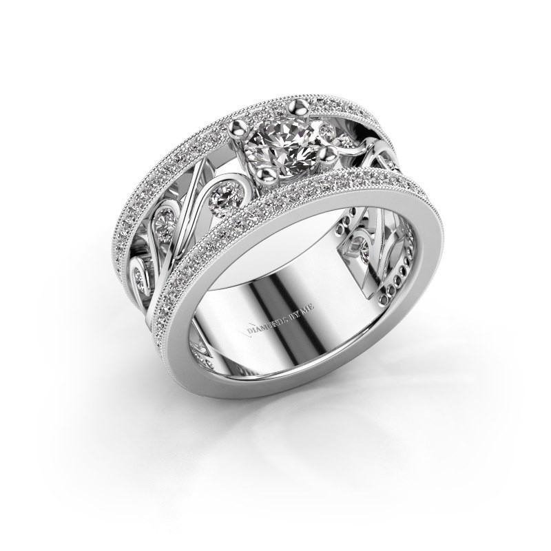 Ring Sanne 585 witgoud lab-grown diamant 1.13 crt