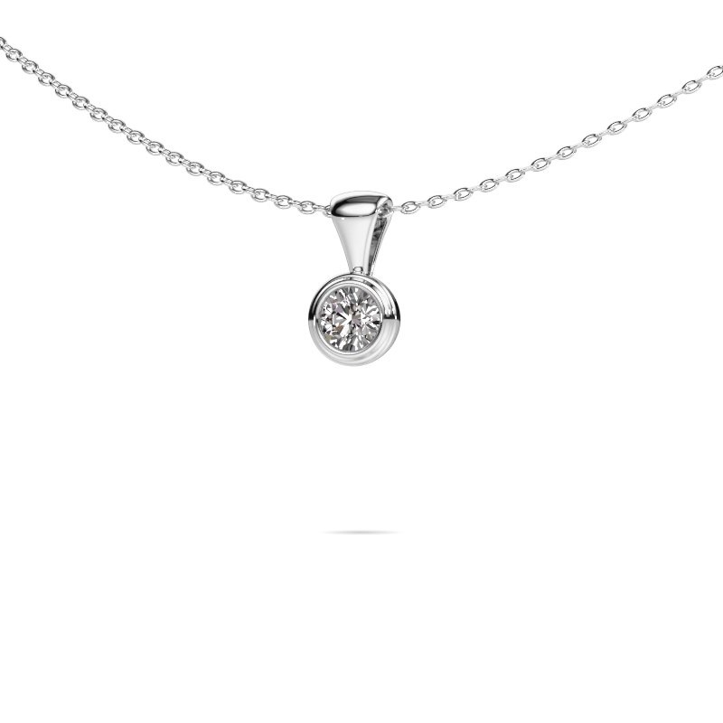 Ketting Lieke 585 witgoud lab-grown diamant 0.25 crt