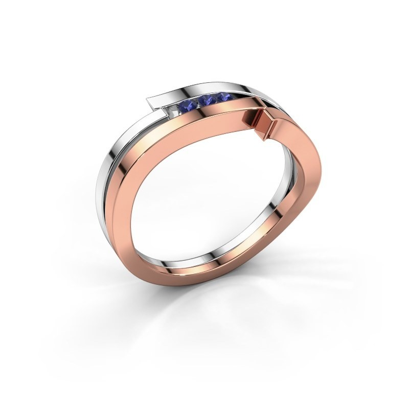 Ring Amelie 585 rose gold sapphire 1.7 mm