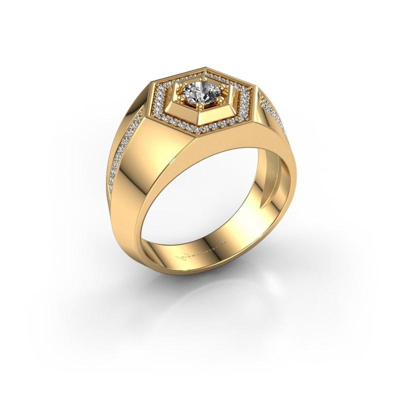 Men's ring Sjoerd 585 gold diamond 0.630 crt