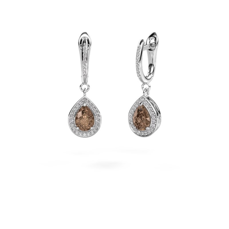 Oorhangers Ginger 2 585 witgoud bruine diamant 1.455 crt