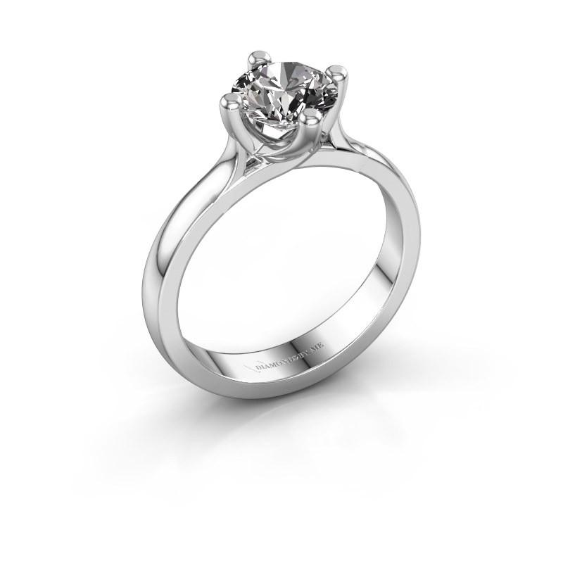 Verlovingsring Eva 925 zilver diamant 1.00 crt