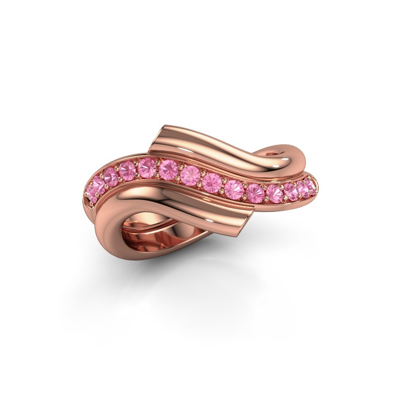 Ring Guusje 585 rose gold pink sapphire 1.8 mm