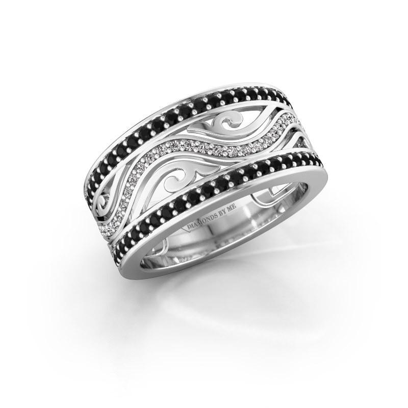 Ring Louvenia 925 Silber Schwarz Diamant 0.825 crt